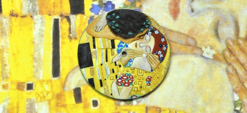 Klimt grand-feu miniature